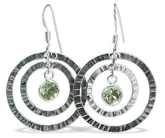 Art-deco Green Amethyst Earrings