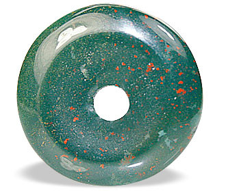 Green Bloodstone Beaded Donut Pendants 1 Inches