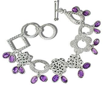 Contemporary Amethyst Bracelets