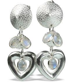 Contemporary Moonstone Earrings