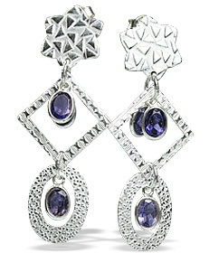 Contemporary Iolite Earrings 2