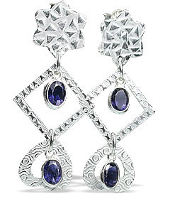 Contemporary Iolite Earrings 3