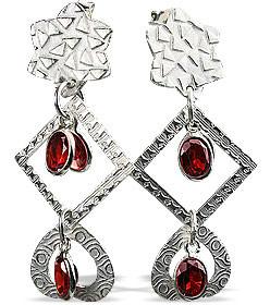 Contemporary Garnet Earrings 2