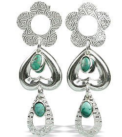 Contemporary Turquoise Earrings 3