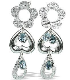 Contemporary Blue Topaz Earrings