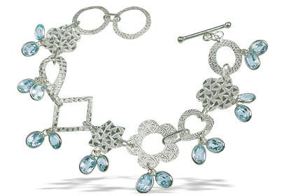 Contemporary Blue Topaz Bracelets