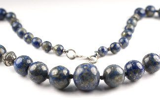 Blue Lapis Lazuli Beaded Contemporary Necklaces 17.5 Inches