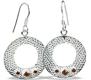 Ethnic Garnet Earrings