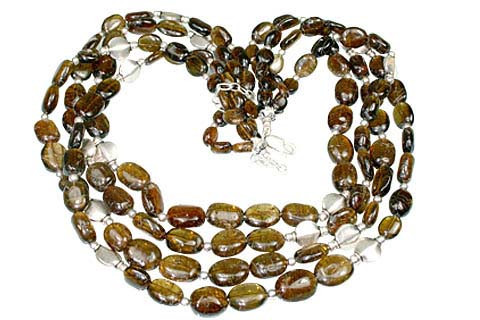 Brown Tourmaline Beaded Multistrand Necklaces 16 Inches