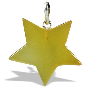 Yellow Onyx Star Pendant