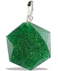 Dark Green Aventurine Hexagon Pendant