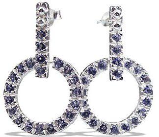 Post Iolite Earrings 3
