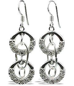 White Topaz Earrings 5