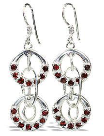 Drop Garnet Earrings