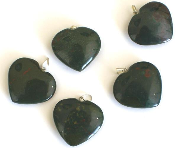 Bloodstone Heart Pendant