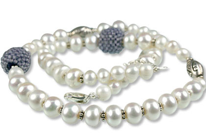 Pearl And Iolite Necklace 6