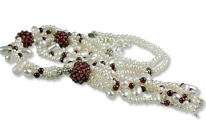 Pearl And Garnet Necklace 8