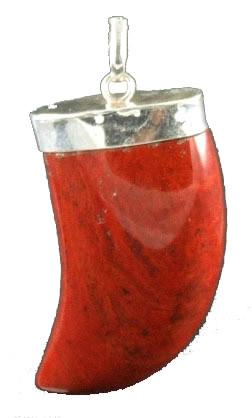 Red Jasper Bear Claw Pendant