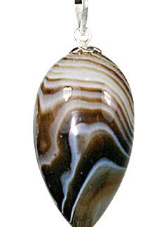 Banded Onyx Drop Pendulum Pendant