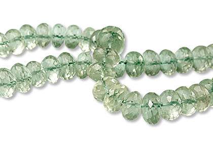 Faceted Green Amethyst Beads (6mm)