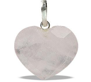Petite Faceted Rose Quartz Heart Pendant