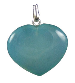 Aquamarine Onyx Heart Pendant