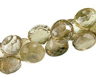 Faceted Petro Lemon Quartz Briolettes Beads (8mm)