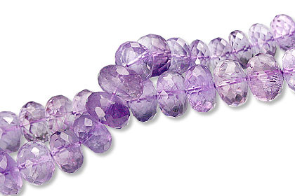 Faceted Amethyst Rondelle Beads (7-11mm)