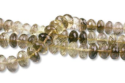 Faceted Petro Lemon Quartz Rondelle Beads (5x8mm) 2