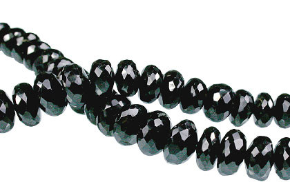 Faceted Black Spinel Beads