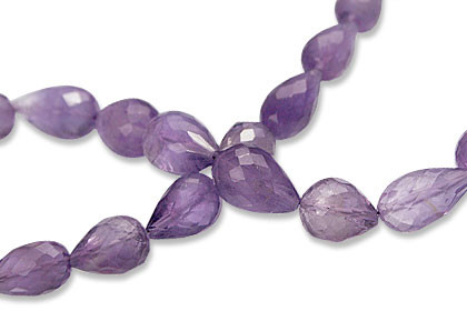 Faceted Amethyst Drop Beads (7-13mm)