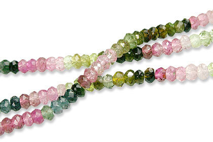 Faceted Multicolored Tourmaline Beads (2x3mm)