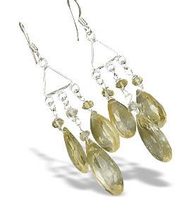 Chandelier Citrine Earrings 2
