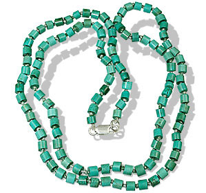 Blue Green Turquoise Beaded Necklaces