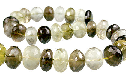 Faceted Petro Lemon Quartz Rondelle Beads (9x12mm)