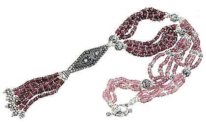 Tourmaline Tassel Necklace