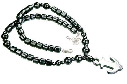 HEMATITE BEADED GRAY CHARM NECKLACES