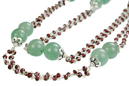 Aventurine And Garnet Necklace