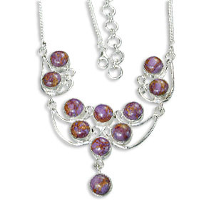 Purple Mohave Silver Setting Necklaces 15 Inches