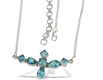 Blue Topaz Necklaces