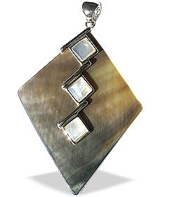 Multi-color Mother-of-pearl Beaded Contemporary Pendants 2 Inches