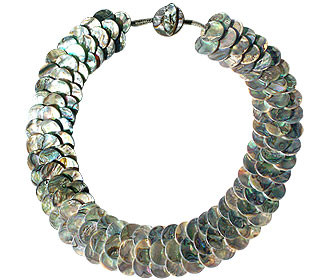 Multi-color Mother-of-pearl Beaded Choker Necklaces 18 Inches