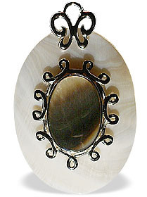 Multi-color Shell Mother-of-pearl Beaded Classic Pendants 1 Inches