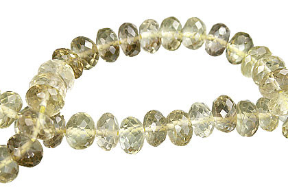 Brown Yellow Lemon Quartz Beaded Faceted Beads 10 Inches