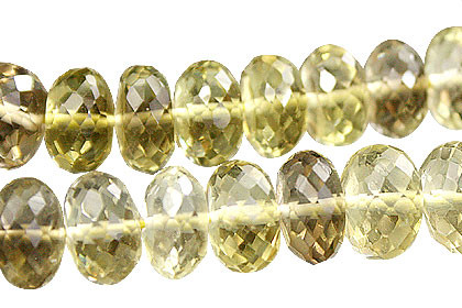 Faceted Petro Lemon Quartz Rondelle Beads (6x7mm)