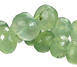 Faceted Prehnite Rondelle Beads (8x10mm)
