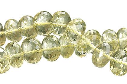 Faceted Petro Lemon Quartz Rondelle Beads (6x10mm)