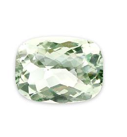 Green Amethyst Beaded Rectangular Gems