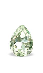 Green Amethyst Beaded Pear Gems