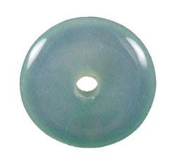 Aquamarine Onyx Donut Pendant
